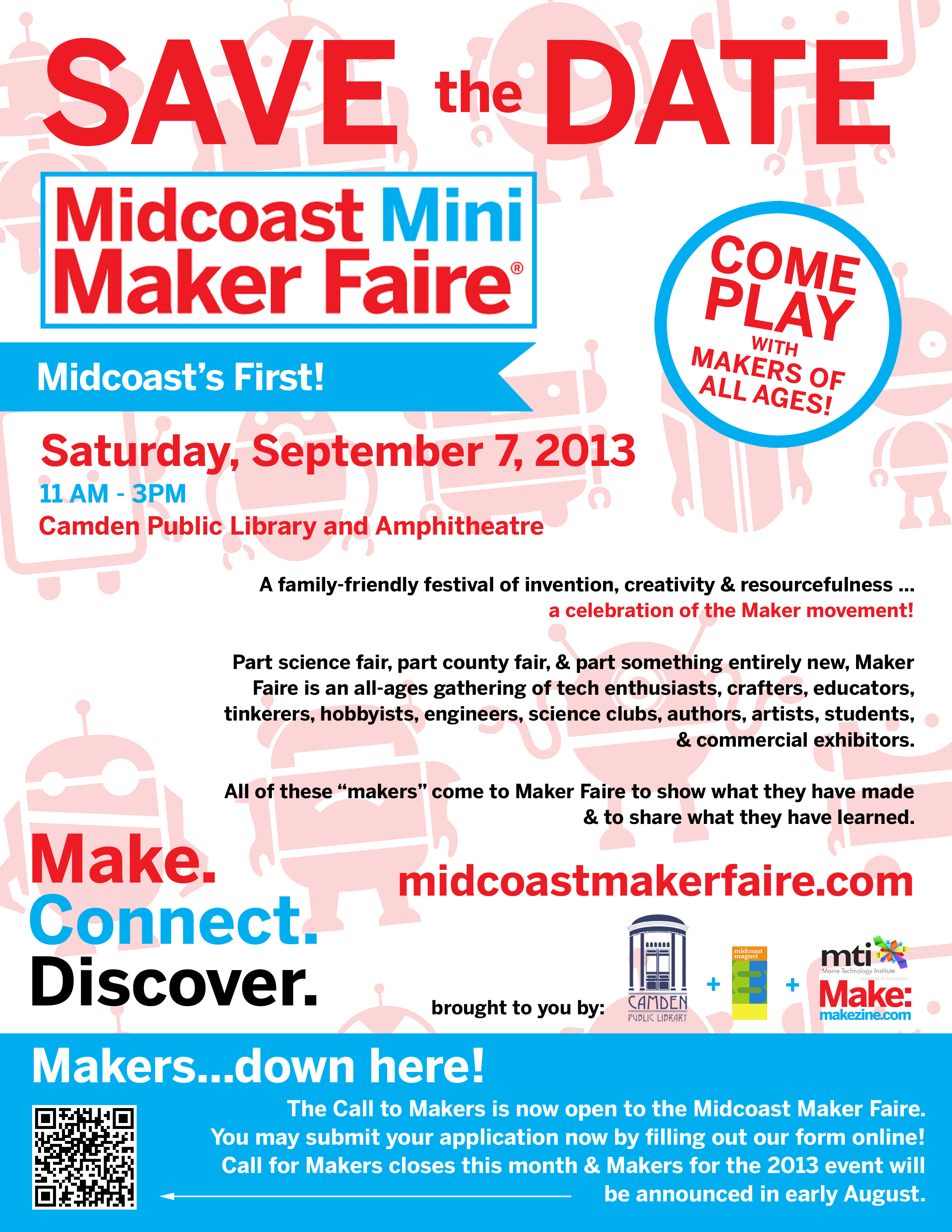 maker faire poster sp the word midcoast mini maker faire poster sp the word
