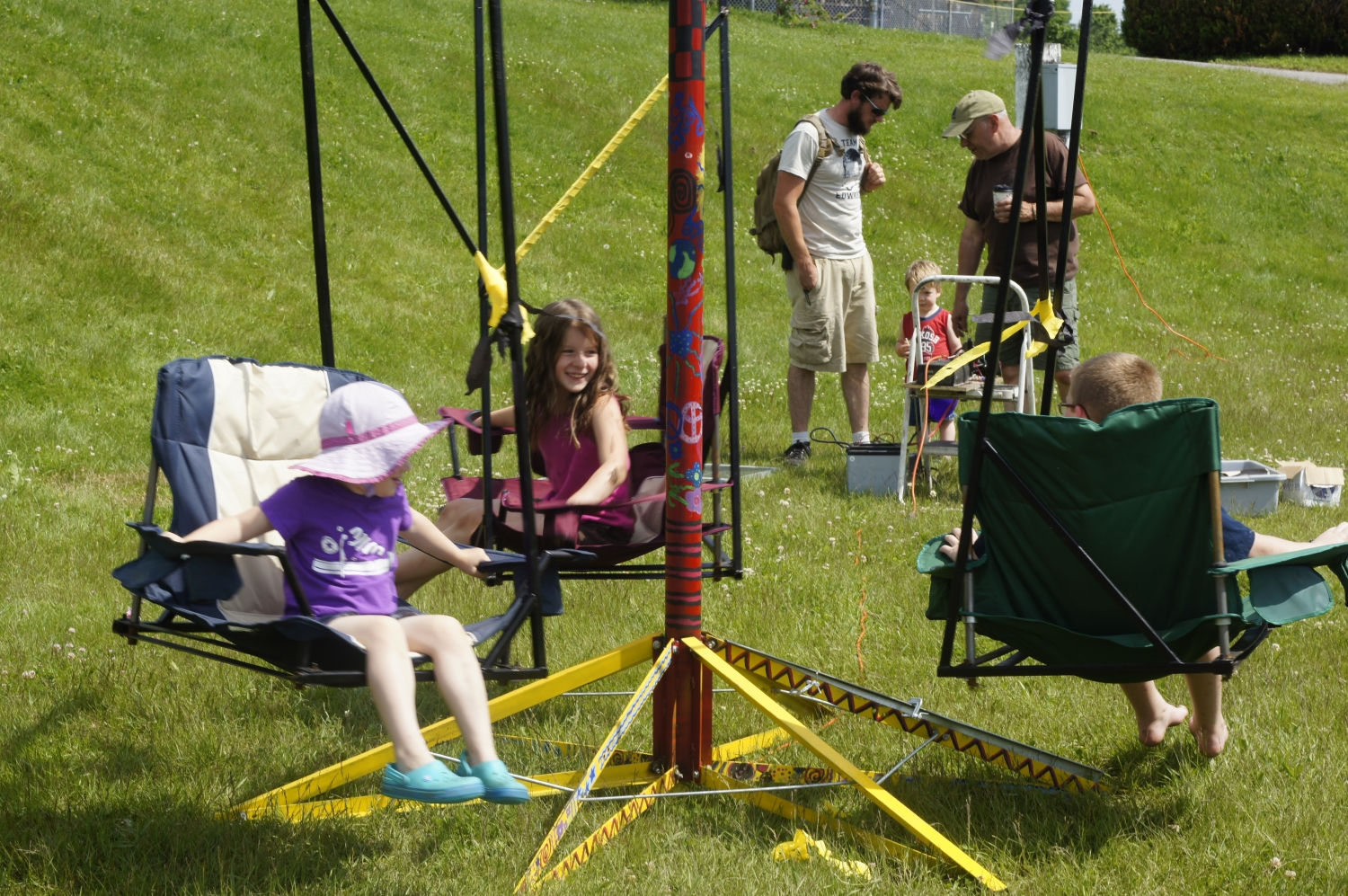 Introducing 2014 makers diy merry go round swing for How to build a swing set for adults